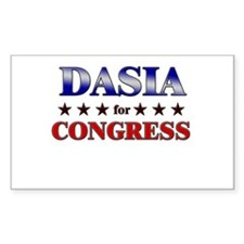 DASIA for congress Rectangle Decal