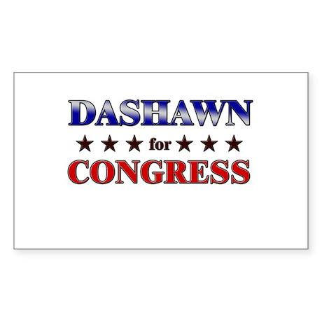 DASHAWN for congress Rectangle Sticker