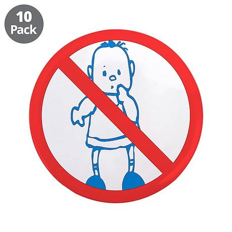 "Anti-Kids 3.5"" Button (10 pack)"