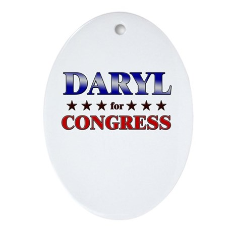 DARYL for congress Oval Ornament