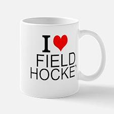 I Love Field Hockey Mugs