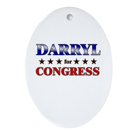 DARRYL for congress Oval Ornament
