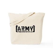 Proud Army Bro-n-Law - Tatterd Style Tote Bag