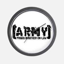 Proud Army Bro-n-Law - Tatterd Style Wall Clock