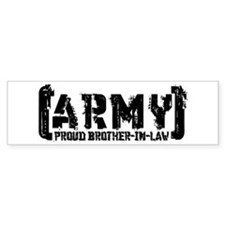 Proud Army Bro-n-Law - Tatterd Style Bumper Sticker