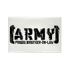 Proud Army Bro-n-Law - Tatterd Style Rectangle Mag