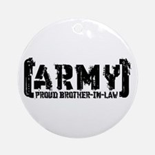 Proud Army Bro-n-Law - Tatterd Style Ornament (Rou