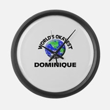 World's Okayest Dominique Large Wall Clock