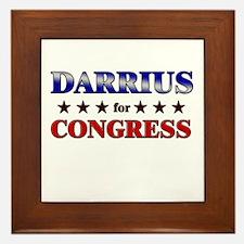DARRIUS for congress Framed Tile