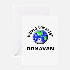 World's Okayest Donavan Greeting Cards