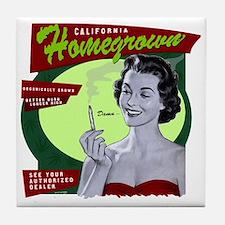 CA Homegrown Tile Coaster