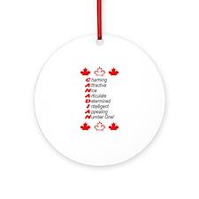 CANADIAN Keepsake (Round)