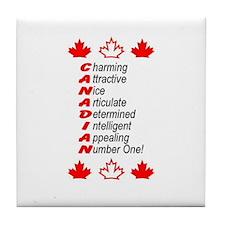 Canadian Tile Coaster
