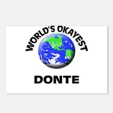 World's Okayest Donte Postcards (Package of 8)