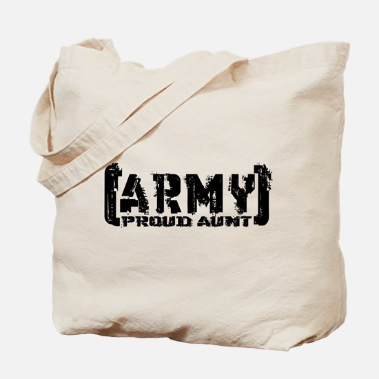 Proud Army Aunt - Tatterd Style Tote Bag