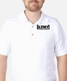 Proud Army Aunt - Tatterd Style T-Shirt