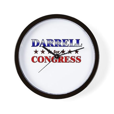 DARRELL for congress Wall Clock