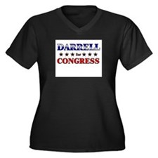 DARRELL for congress Women's Plus Size V-Neck Dark