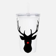 Christmas reindeer wit Acrylic Double-wall Tumbler
