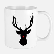Christmas reindeer with a red nose Mugs