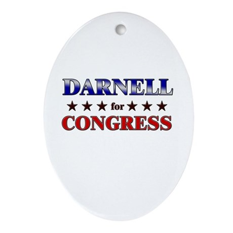 DARNELL for congress Oval Ornament