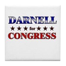 DARNELL for congress Tile Coaster