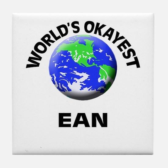 World's Okayest Ean Tile Coaster