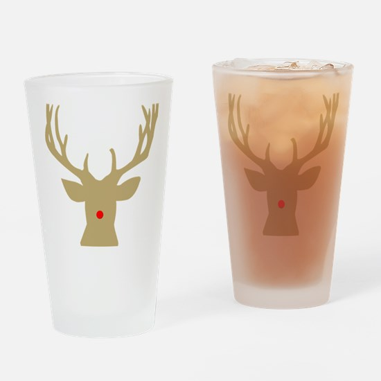 Unique Rudolph the red nose reindeer Drinking Glass