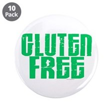 """Gluten Free 1.1 (Mint) 3.5"""" Button (10 pack)"""