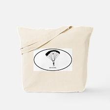 Skydiving (euro-white) Tote Bag