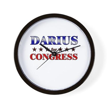 DARIUS for congress Wall Clock