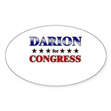 DARION for congress Oval Decal