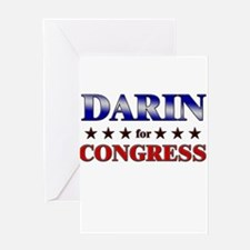 DARIN for congress Greeting Card