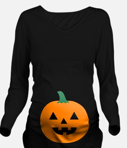 Halloween Pumpkin Long Sleeve Maternity T-Shirt