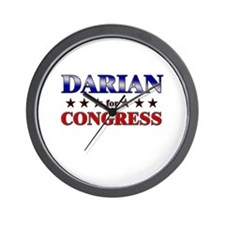 DARIAN for congress Wall Clock