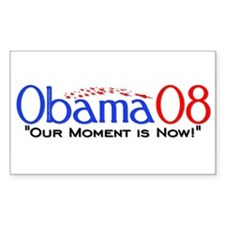 """""""Obama Now"""" Rectangle Bumper Stickers"""