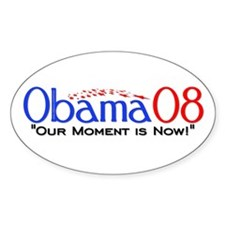 """Obama Now"" Oval Decal"