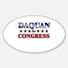 DAQUAN for congress Oval Decal
