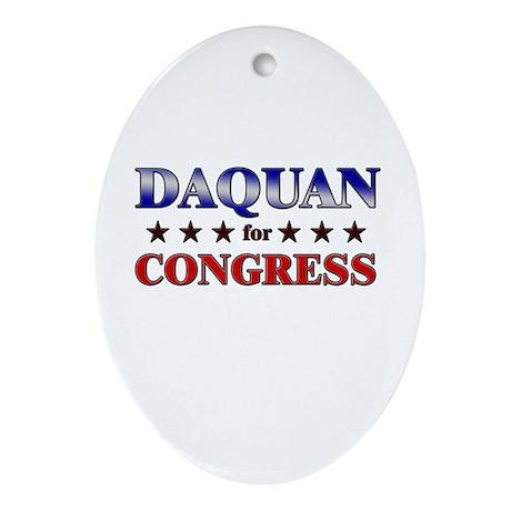 DAQUAN for congress Oval Ornament