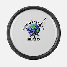 World's Okayest Elmo Large Wall Clock