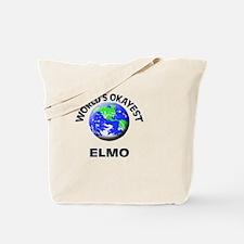 World's Okayest Elmo Tote Bag