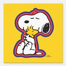 "Peanuts Flair Snoopy Square Car Magnet 3"" x 3"""