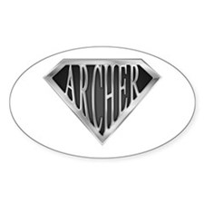SuperArcher(metal) Oval Decal