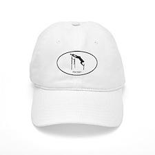 Pole Vault (euro-white) Baseball Cap
