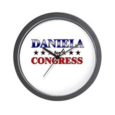 DANIELA for congress Wall Clock