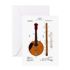 Mandolin Patent Greeting Card