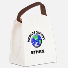 World's Okayest Ethan Canvas Lunch Bag