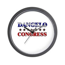 DANGELO for congress Wall Clock