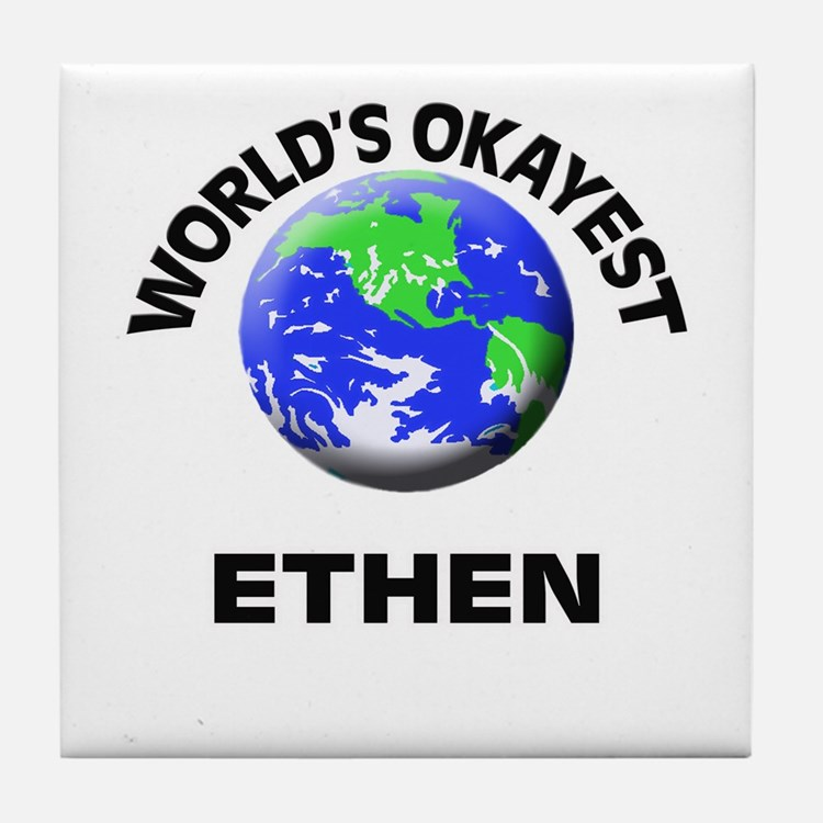 World's Okayest Ethen Tile Coaster