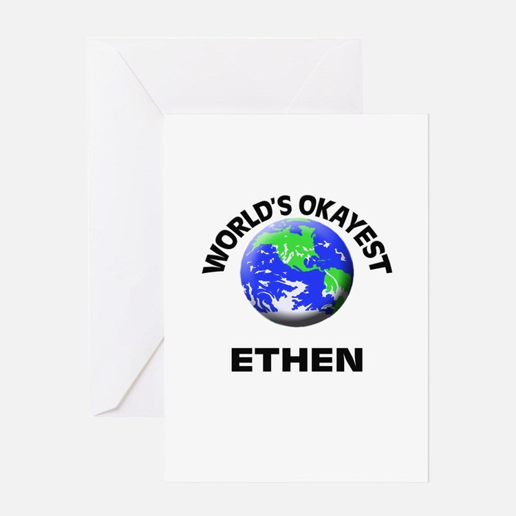 World's Okayest Ethen Greeting Cards